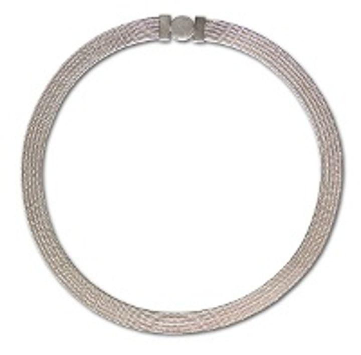 Foxband Silber 5 Stränge