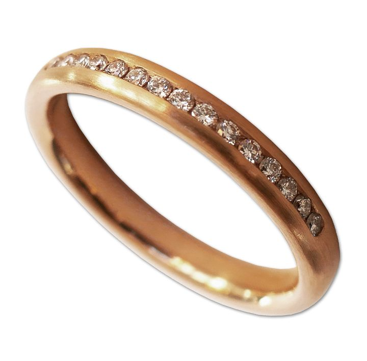 Memoire-Ring in Rotgold