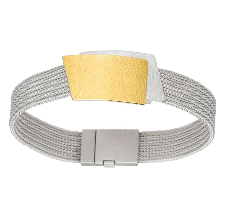 Armband in Silber/Gold