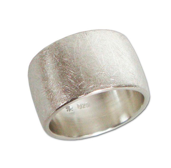 Silberring ovales Profil 12 mm