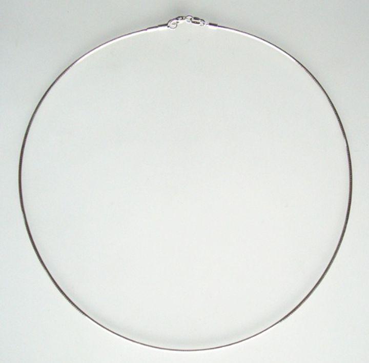 Halsreif mit Gewinde Silber 1,4 mm