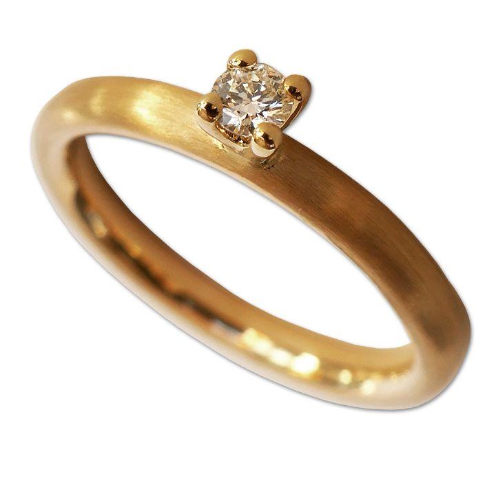 Solitär-Ring in Gelbgold