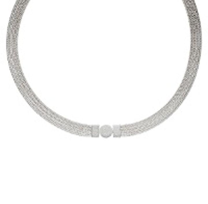 Foxband Silber 4 Stränge