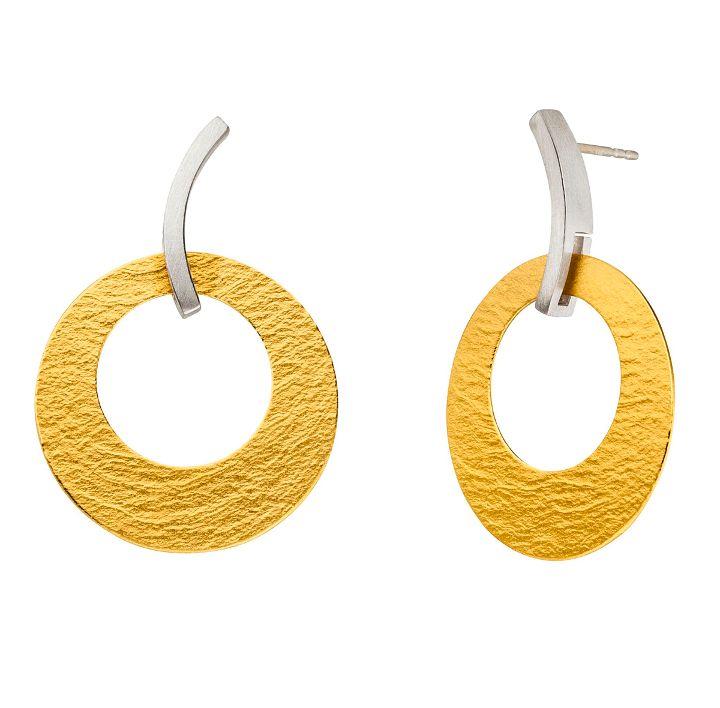 Ohrhänger Silber/Gold