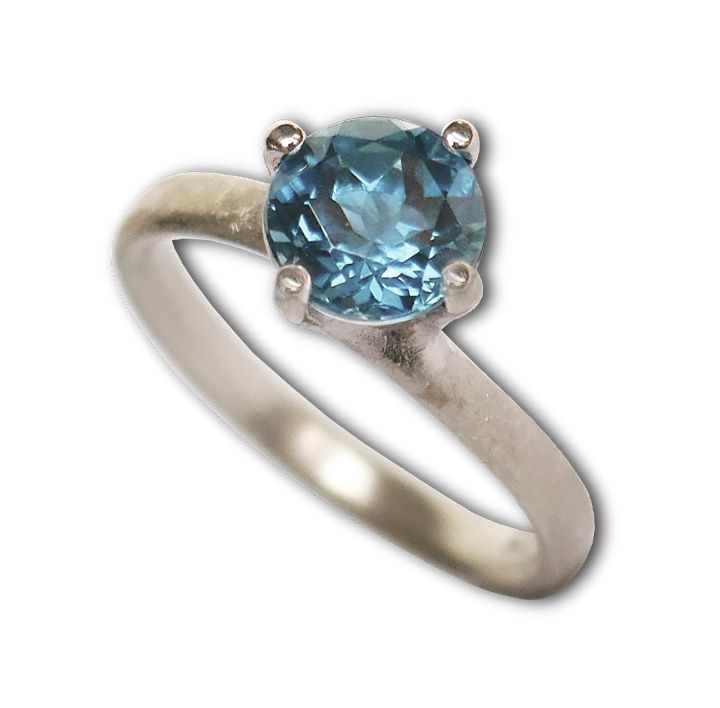 Ring in Silber mit Topas