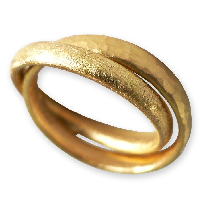 Doppelring in Gelbgold