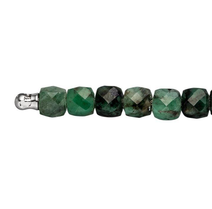 Kette Smaragd cube 4 mm